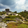 Mexico, Tulum, Temple of the Gods of the Wind and Castle