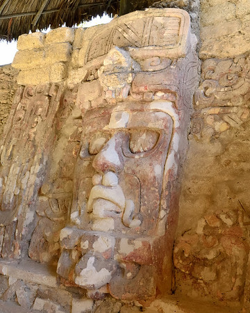 Mexico, Kohunlich, Temple of the Masks