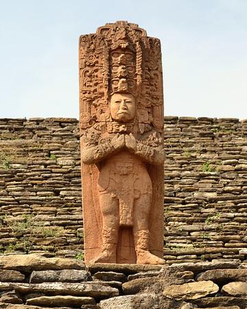 Mexico, Tonina, Stele