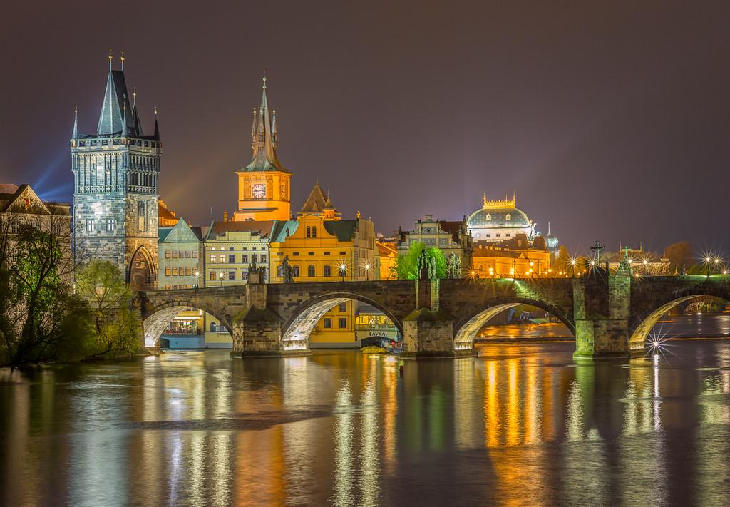 Gothic Tower and Charles Bridge