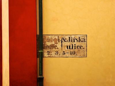 Street Sign, Prague