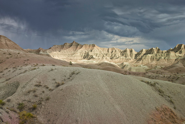 White Mountains and Storm, Badlands, SD