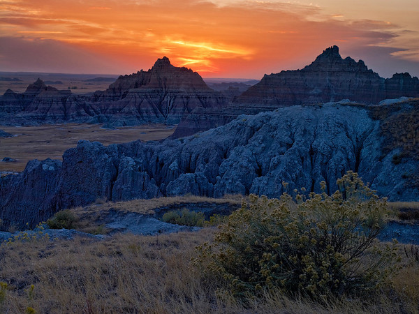 Sunset, Badlands, SD