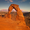 Sunset, Delicate Arch, Arches, UT