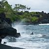 Black sand beach - Hawaii