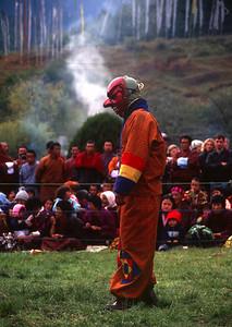 Clowns play a big part in the Festivals of Bhutan