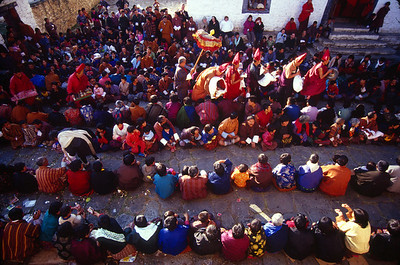 The Blessing Ceremony at the end of the Prakar Festival