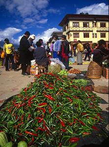 The Paro Sunday market