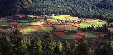 The beautiful high valley of Phobjikha