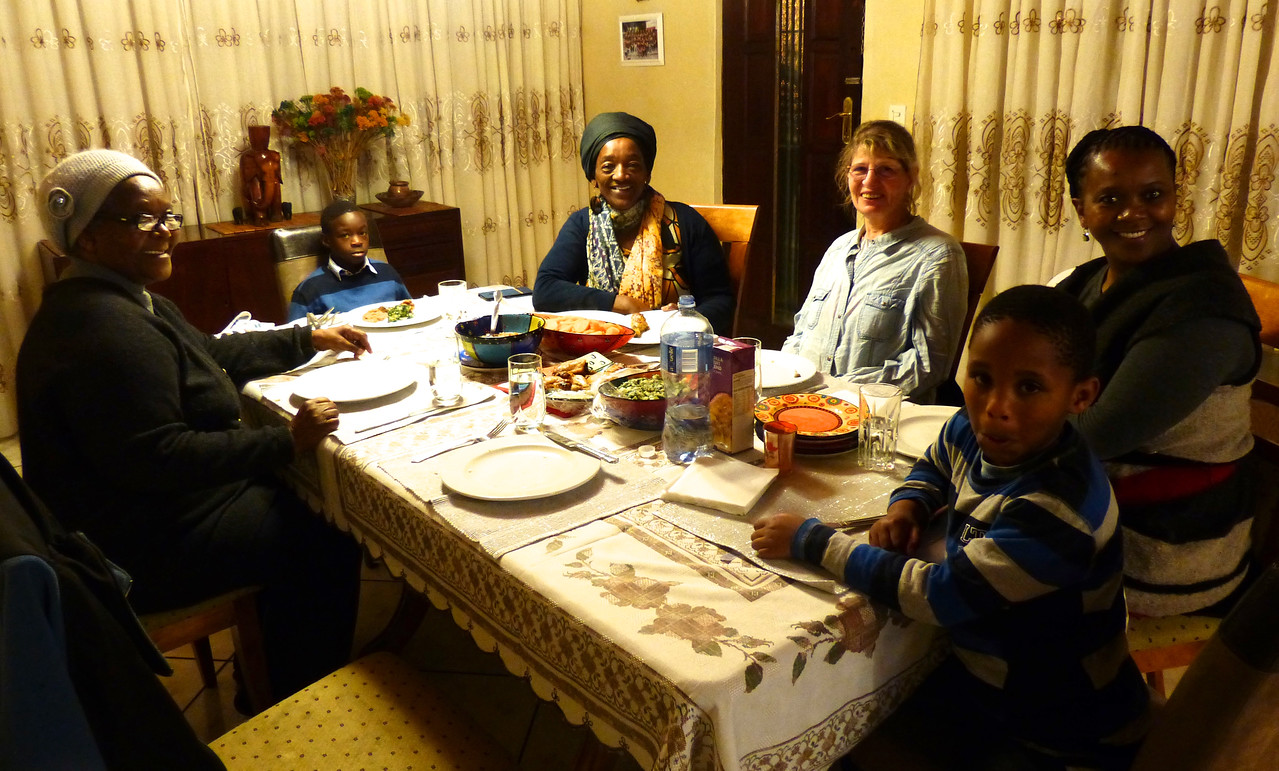 We had dinner with members of the family.