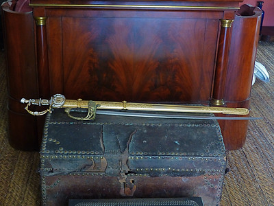 At the historic home museum of Simon Bolivar, the liberator of much of South America, we saw a replica of his sword.