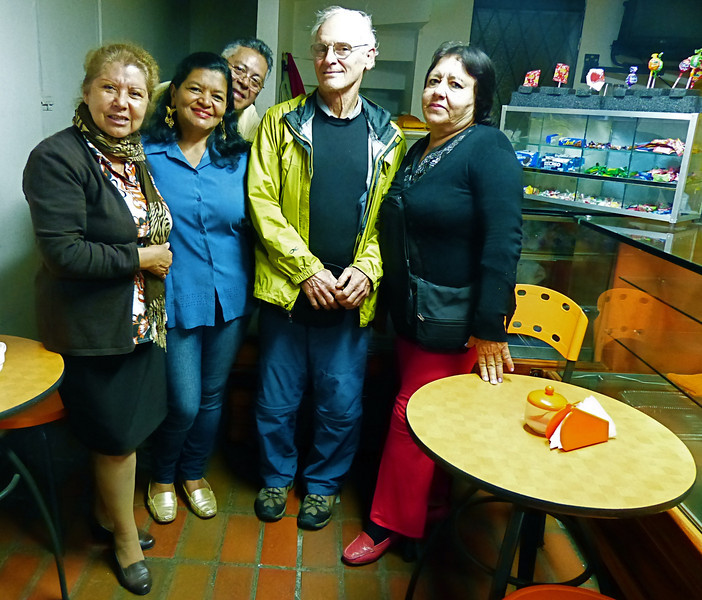 Some of our best memories are the many people we met. Henry, in the back, worked for Northrup Grumman in Chicago for 26 years but then returned to Colombia in retirement. He and his family now own this small cafe. He was one of the few people we met on our trip who spoke English.