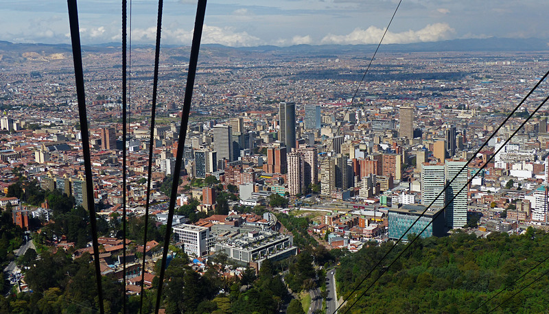 On the edge of Bogota is a cable car that takes you up to Monserrate where you have a spectacular view of the city.