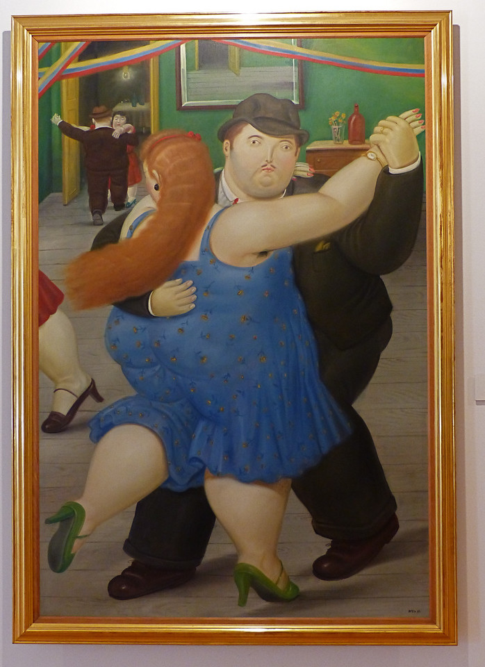 Colombia's best known painter is Botero who is known for painting plump people.
