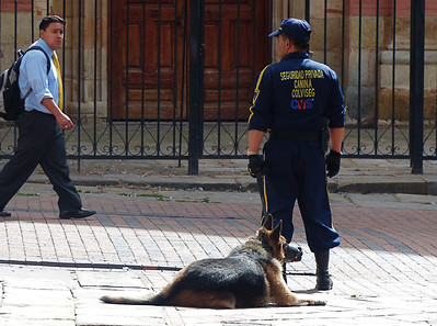There is a heavy police presence in Bogota which has been very successful in controlling street crime.