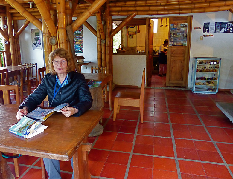We spent 3 nights at a small hospedaje at San Andres de Pisimbala, close to the Tierradentro World Heritage Site. We ate some of our best meals at this open air restaurant at the hospedaje.