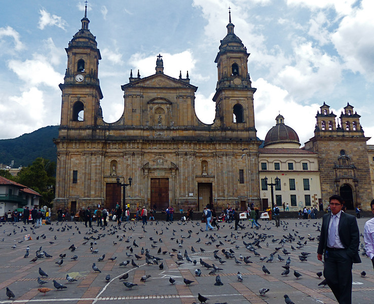 Plaza de Bolivar was located in the La Candaleria area of Bogota, just a few blocks from our hostel.