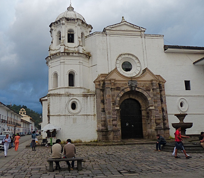 We took one internal flight to minimize our time on long distance buses. We flew south to the colonial city of Popayan in the Cauca Valley.