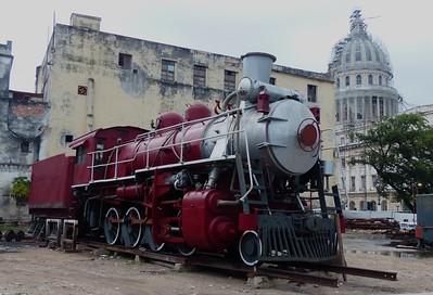 Havana - Old railway engine near the Capitola.