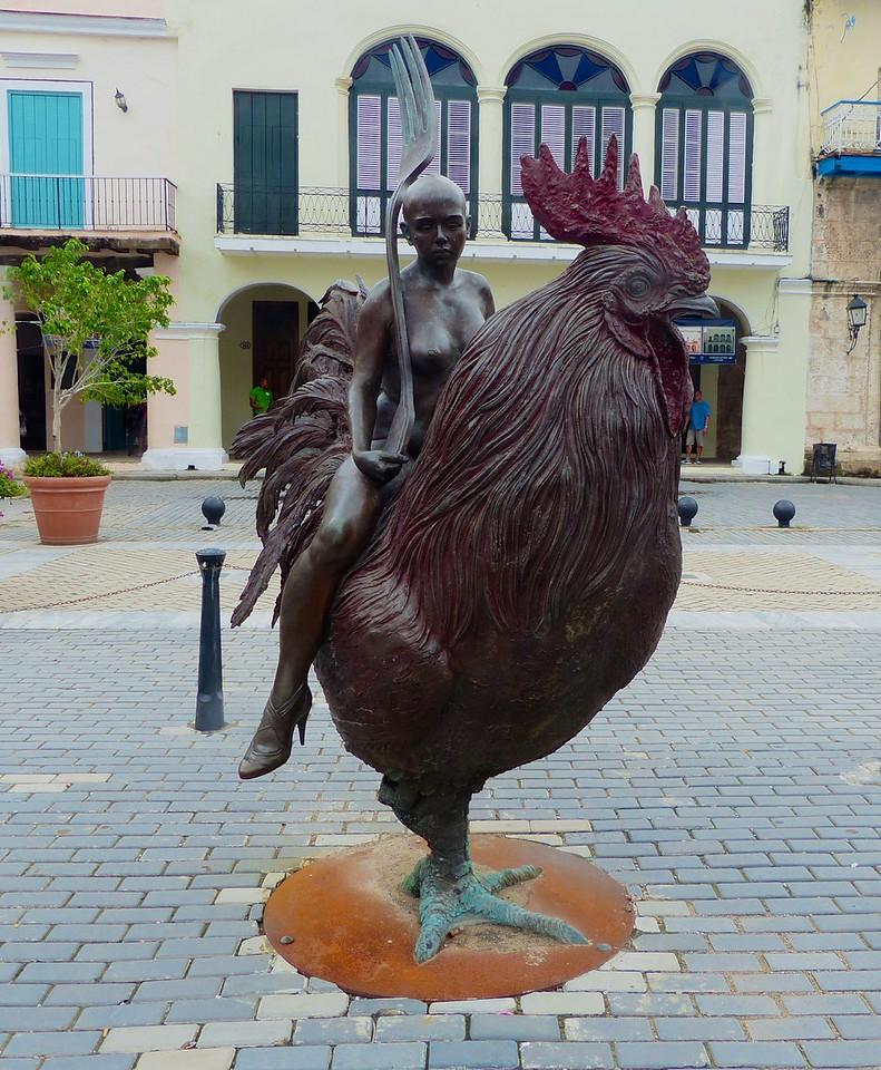 Havana - Nice statue in  Plaza Vieja.