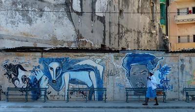 Havana - Murals along the Prado