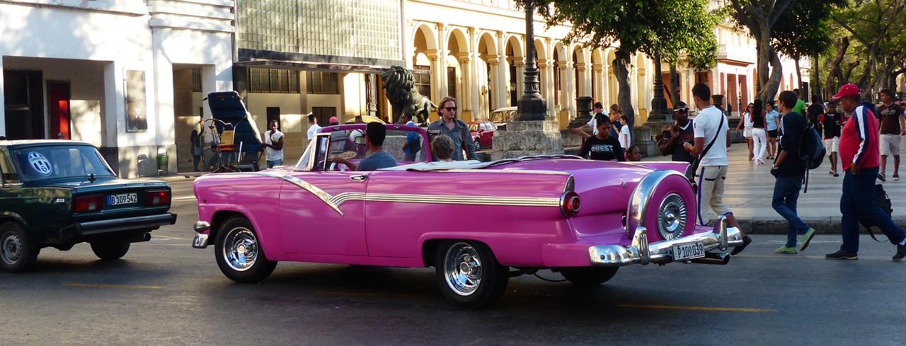 Havana -  Classic cars near the Prado.