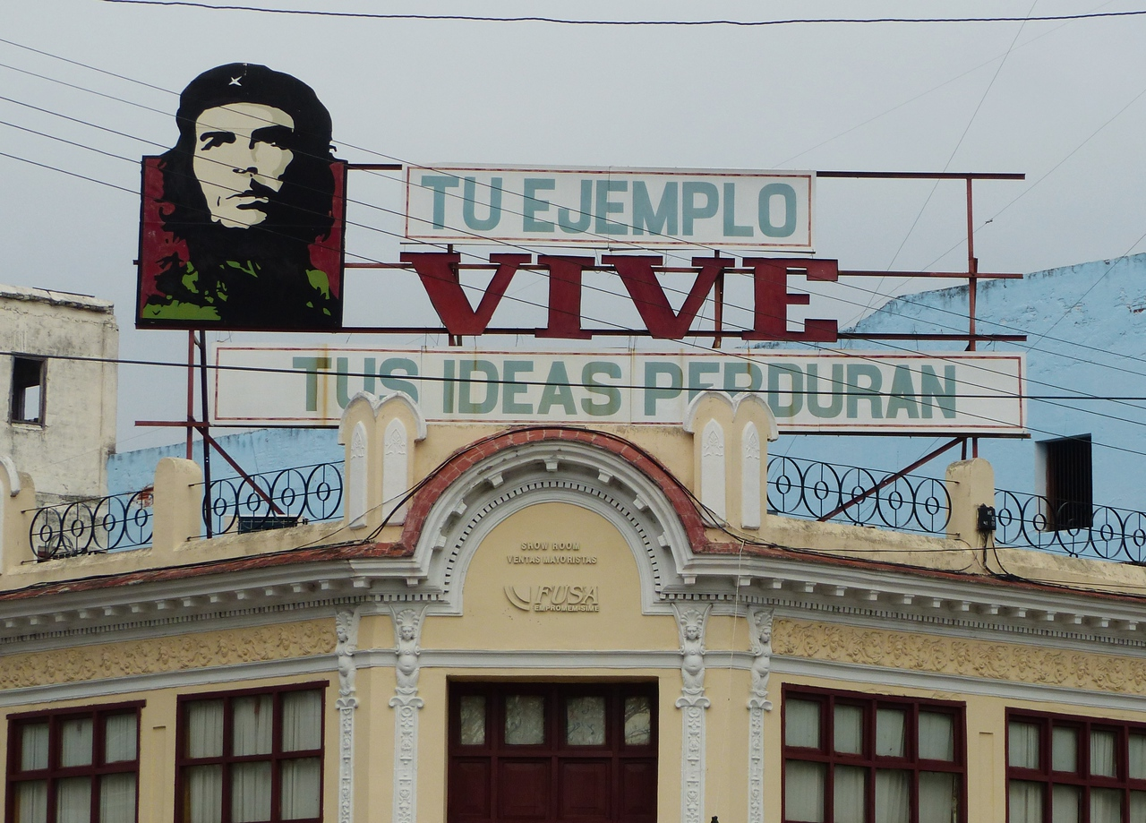 Cienfuegos - Billboards of Che are found all over Cuba. Not so many of Fidel