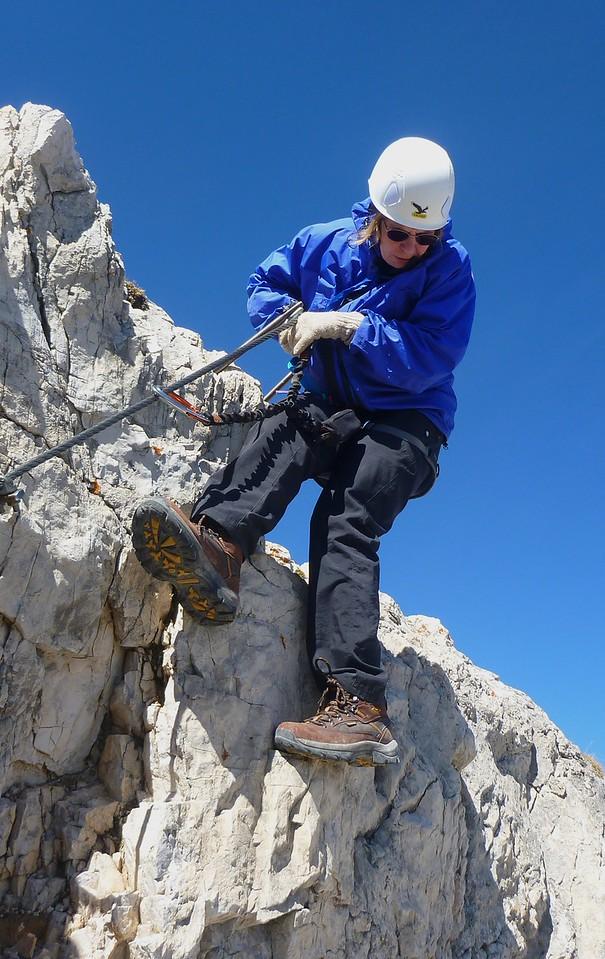 Torre Doblino Via Ferrata - descending