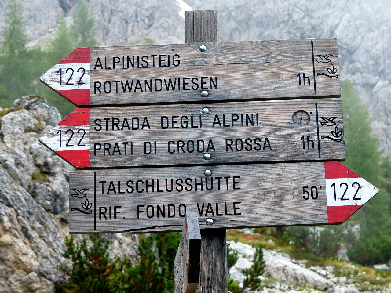 After arriving in the Dolomites, we planned a 5 day hike where we would stay in refugios. The trails were well marked. However, all the choices were confusing and it was  often hard to find the most direct route.