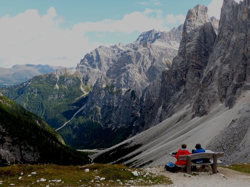 Hiking from Fondo Valle Hut to Locatelli Hut