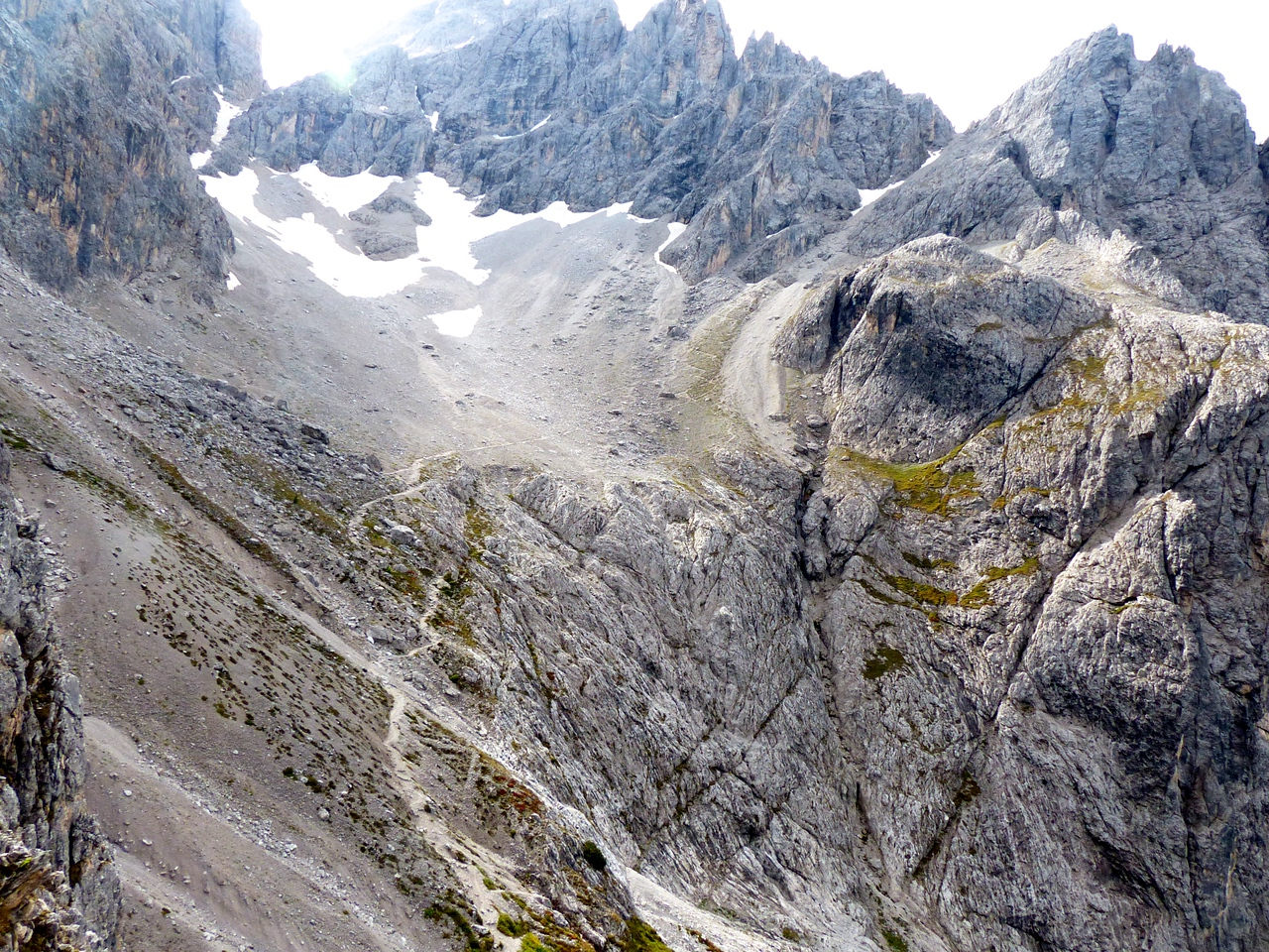 It was a rugged area.  The trail in the photo leads to a high pass in the upper right.
