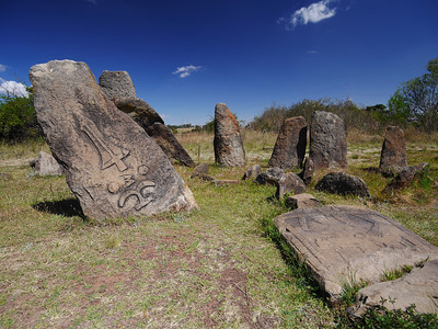 These monoliths are gravesites. The area has  been excavated but little is known about the history.