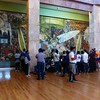 "Mexico City  - ""Man, Controller of the Universe "" Diego Rivera mural in Bellas Artes"