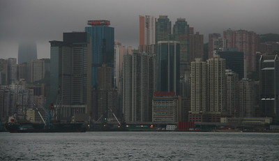 A view of Hong Kong Island from the Star Ferry. This ferry ride is still one of the great travel bargains of the world. It costs less than 50 cents