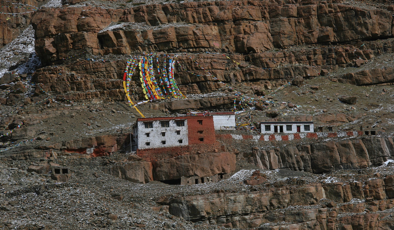 There are three active monasteries located on the Kora. The first one is Chuku Gompa