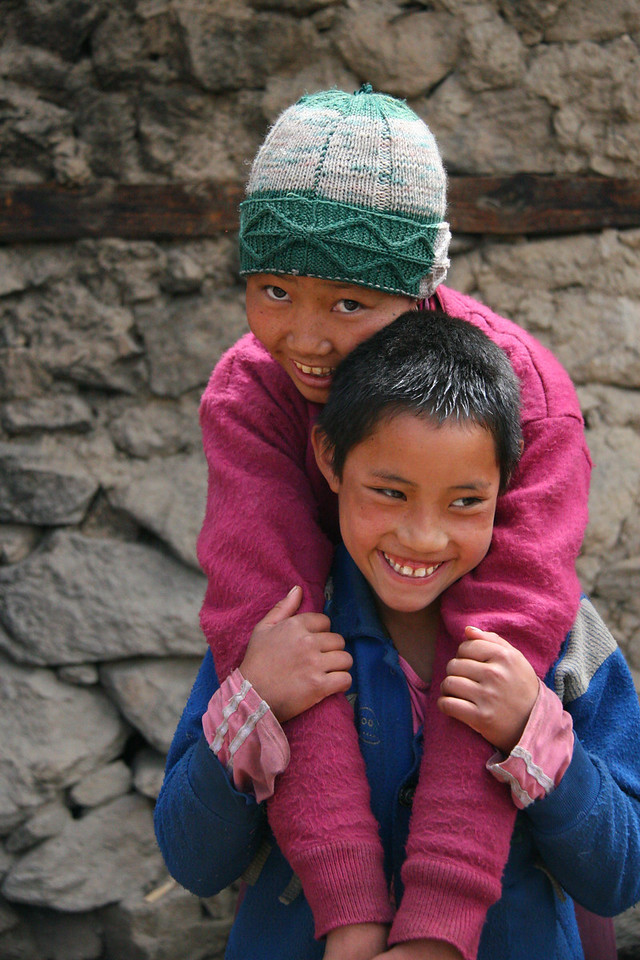 Smiling Nepali faces
