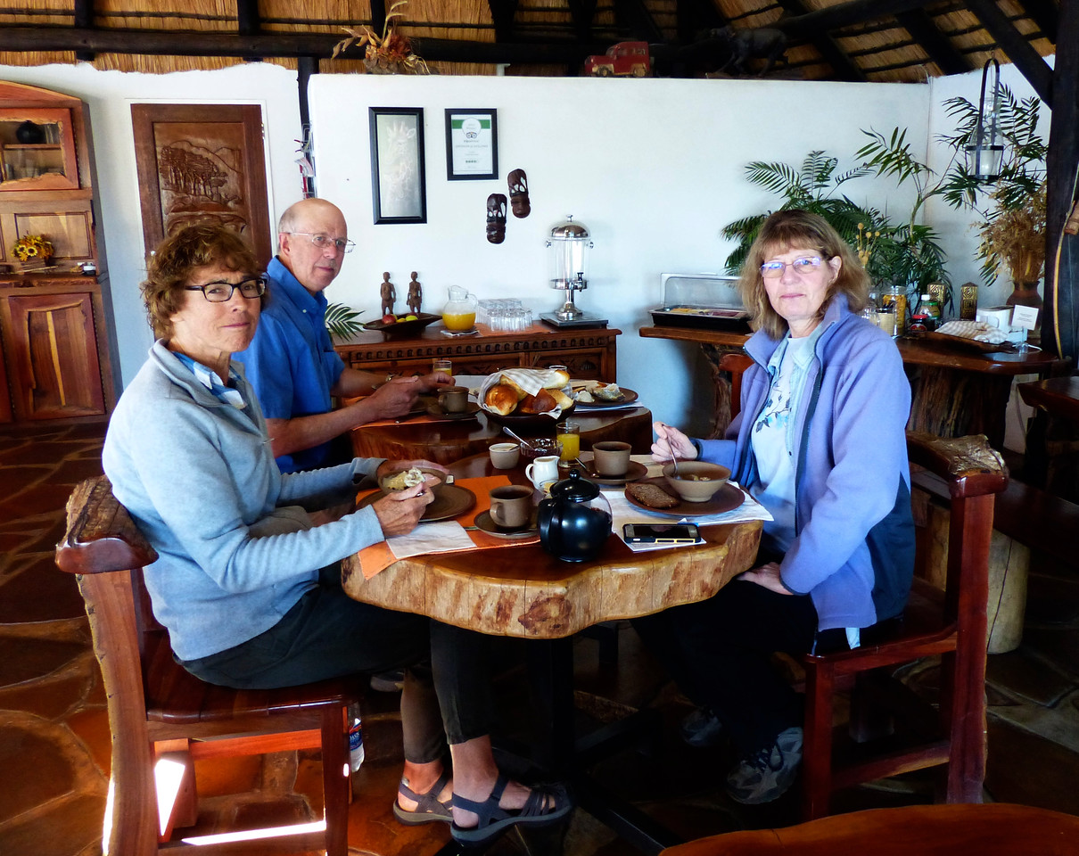 We spent 2 nights in the Tamboti Guest house in Windhoek.