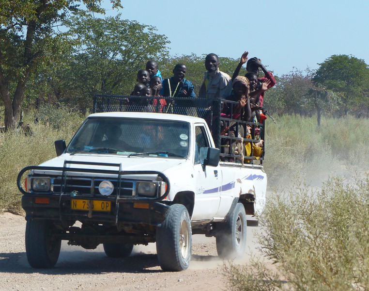 "We saw this ""local bus"" while driving from Opuwa to Epupa Falls, which is on the border with Angola."