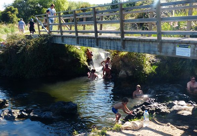 Outside of Taupo, we visited Spa Park where a natural hot creek provided different pools to soak in.