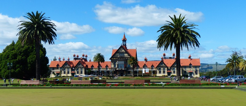 The Rotorua Museum was in a beautiful building.