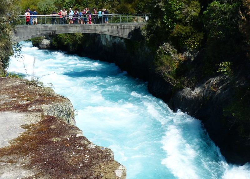 Close to Taupo was Huka Falls, a very powerful stream and falls.