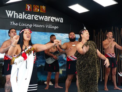 We saw another Maori dance performance here which was nicer since it was outside and  easier to photograph.