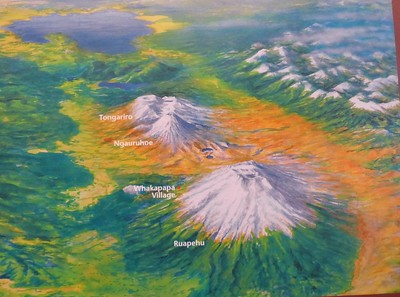 From Whakapapa Village, we will do a 27 mile clockwise loop between Mt Tongariro and Mt Ngauruhoe and then return to the village passing between Ngauruhoe and Ruapehu.