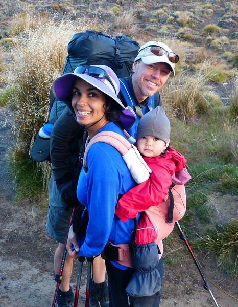 We are impressed by this couple from San Francisco. They took their 13 month old baby across the pass .