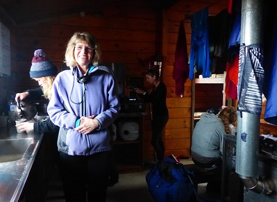 Inside the hut, racks above the fireplace allowed us to dry out all our gear.