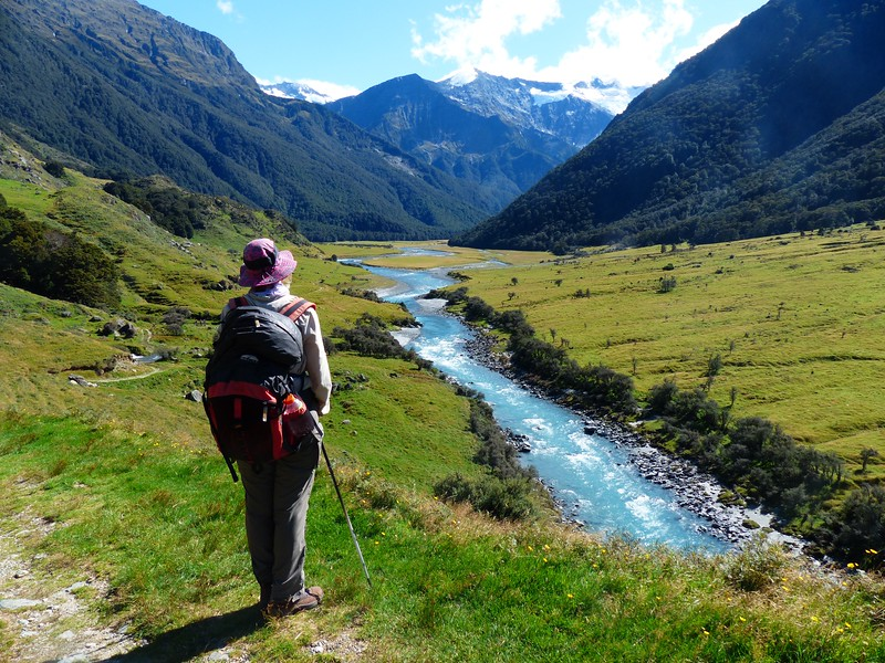 Mt. Aspiring backpack -  hiked about 6 miles up this beautiful valley to the Mount Aspiring Hut.
