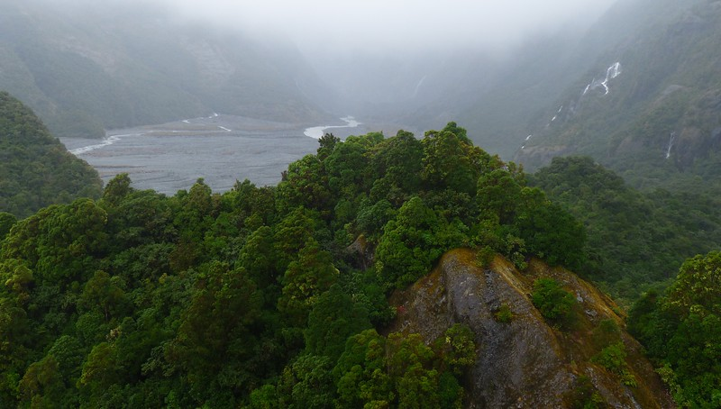 The storm kept us from hiking close to Franz Josef Glacier, but we did some shorter hikes.