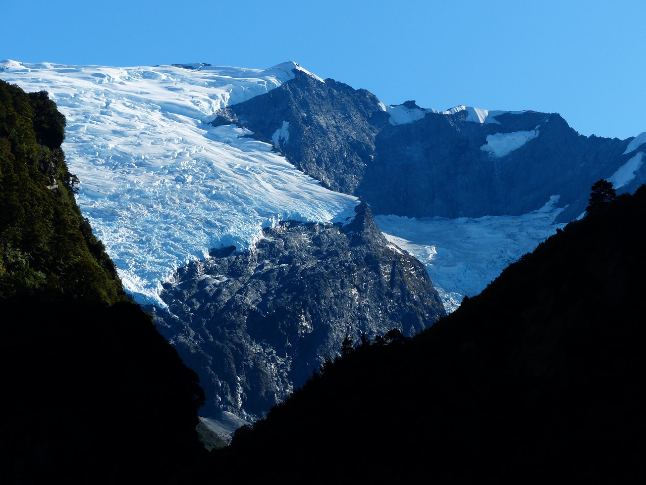 Mt. Aspiring backpack -  We had great views of Rob Roy Glacier but didn't have time to do the side hike to get up close.