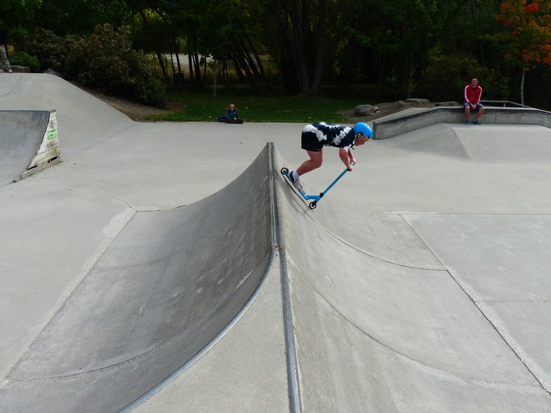 Arrowtown also had a skating park and we had a great time watching these young kids do their thing.