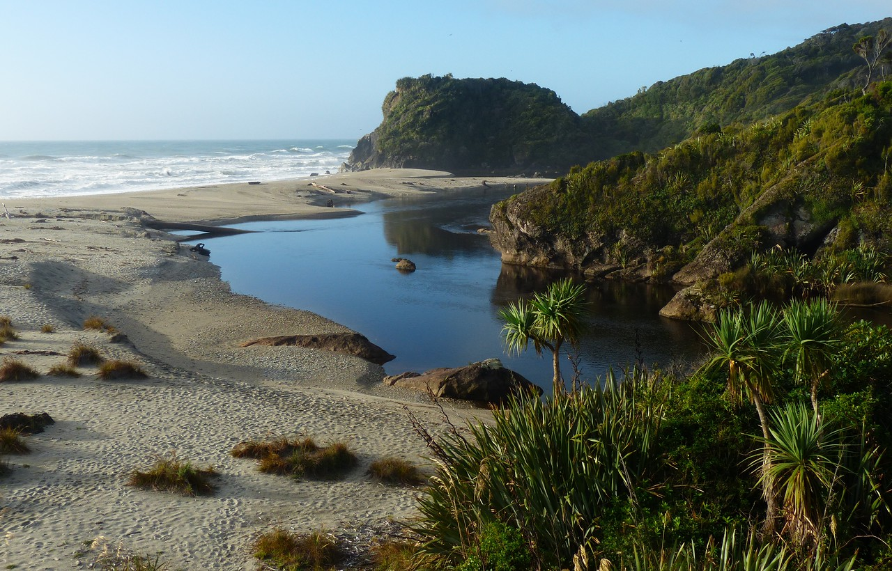 Ship Creek on the Southern West Coast of South Island  - Sandflies are notorious in New Zealand.  We encountered them for the first time here.  In general we were very lucky and avoided them on most of our hikes.